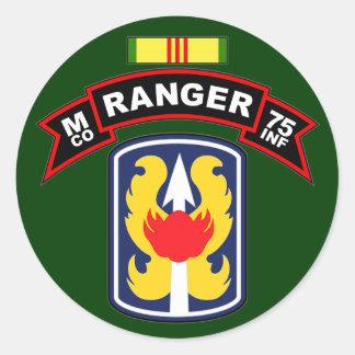M Co, 75th Infantry Regiment - Rangers, Vietnam Classic Round Sticker