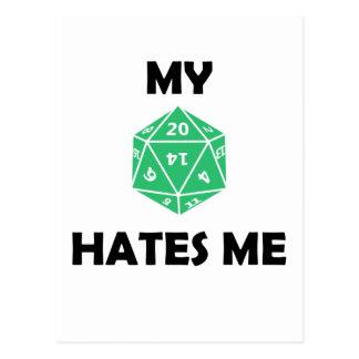 M D20 Hates Me Postcard