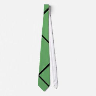 M.D.T-Necktie Black rays with Verde bottom Neck Tie