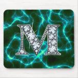 """M """"Diamond Bling"""" Lightning Mousepad"""
