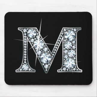 """M"" Diamond Bling Mousepad"
