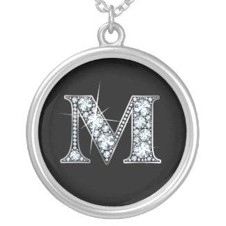 """M"" Diamond Bling Necklace"