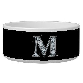 """M """"Diamond Bling"""" Pet Bowl"""