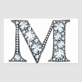 """M"" Diamond Bling Sticker"