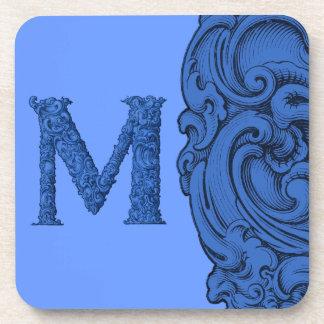 M - El alfabeto de Falck (azul) Posavaso