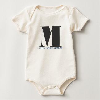 M está para el aprendizaje de máquina body para bebé
