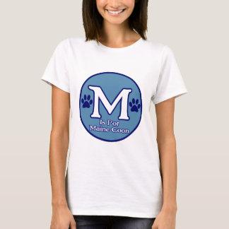 M está para el Coon de Maine Playera