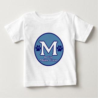 M está para el Coon de Maine Playeras