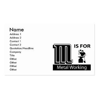 M está para el funcionamiento del metal plantillas de tarjetas personales