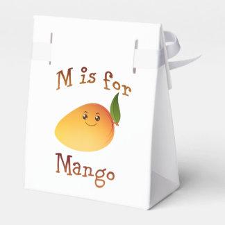M está para el mango caja para regalo de boda