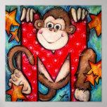 M está para el mono impresiones