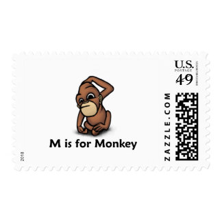 M está para el mono timbres postales