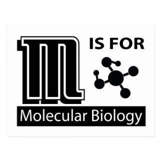 M está para la biología molecular postal