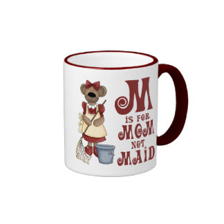 M está para la mamá taza de café