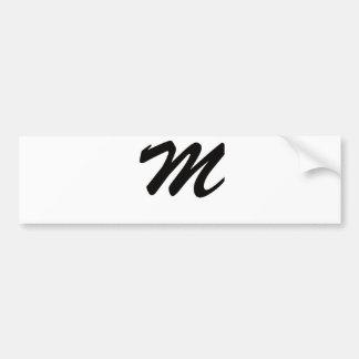 M está para maravilloso etiqueta de parachoque