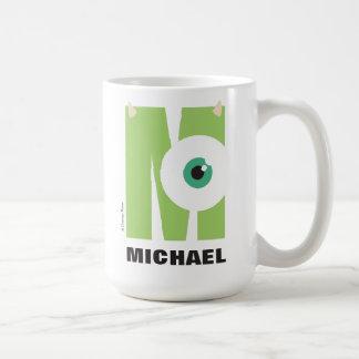 M está para Mike el | añade su nombre Taza De Café