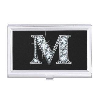 "M Faux-""Diamond Bling"" Business Card Case"