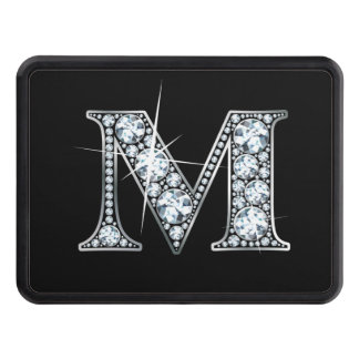 """M Faux-""""Diamond Bling"""" Trailer Hitch Cover"""