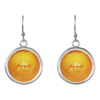 M for Marigold Monogram Setting Sun Drop Earrings