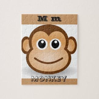 M for Monkey Cartoon Puzzle