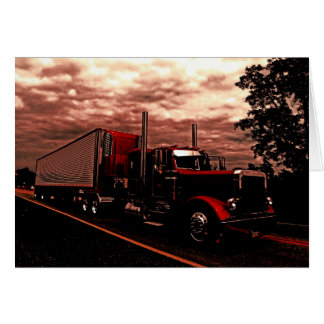 M Horning's Peterbilt 379 Edit Note Card