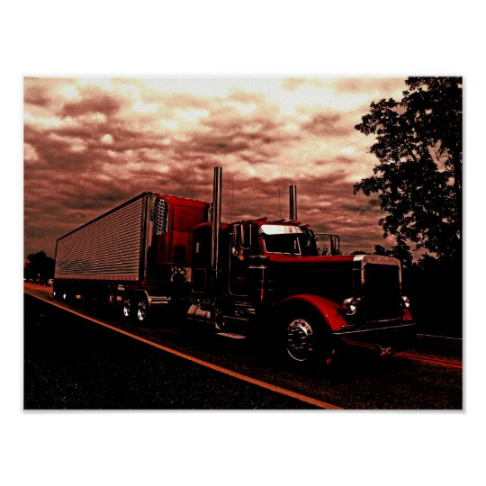 M Horning's Peterbilt 379 Edit Poster