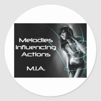 M.I.A. - Music Influencing Actions Tour Wear Classic Round Sticker