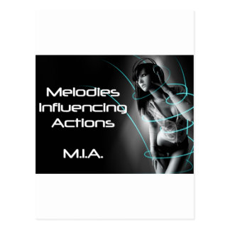 M.I.A. - Music Influencing Actions Tour Wear Postcard