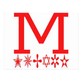 M Image Fashion Postcard