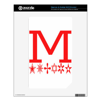 M Image Fashion Decal For NOOK Color