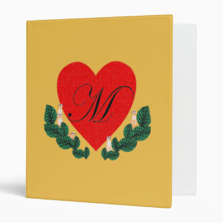 M in a heart 3 ring binder