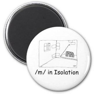 M In Isolation 2 Inch Round Magnet
