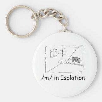 M In Isolation Basic Round Button Keychain