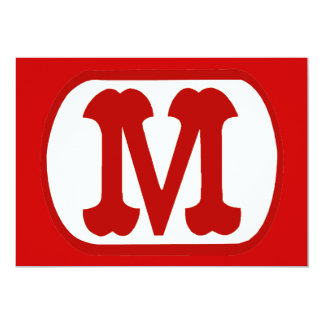 M In Oval Icon  (Mario) Card