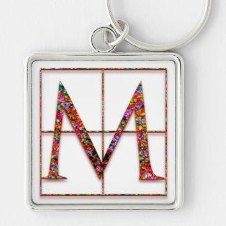 "M Initial ""Celtic Bricks"" Key Chain"