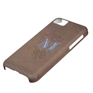M Initial Leather-look Customised Phone Case iPhone 5C Case