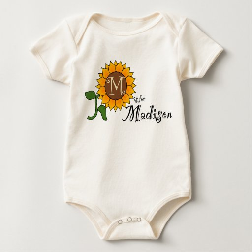M is for Madison Cute Sunflower T-shirt