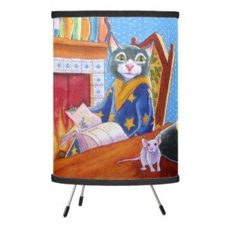 M is for Magic Wizard Cat Lamp