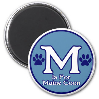 M is for Maine Coon Refrigerator Magnets
