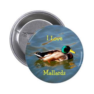 M is for Mallard - button