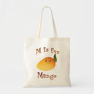 M is for Mango Budget Tote Bag