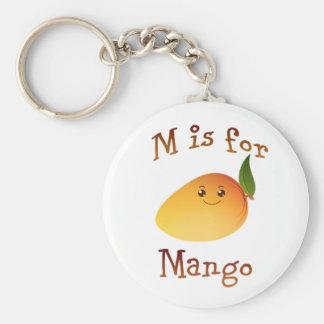 M is for Mango Basic Round Button Keychain