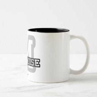 M is for Marquise Two-Tone Coffee Mug
