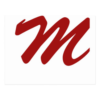 M is For Marvelous Postcard