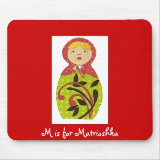 M is for Matrioshka Mouse Mats