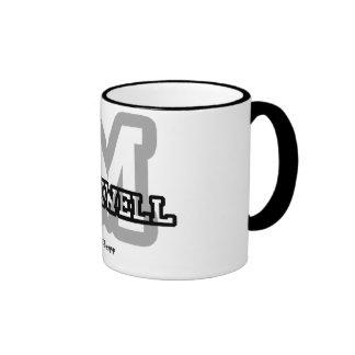 M is for Maxwell Ringer Mug