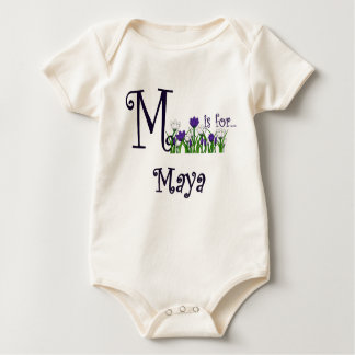 M is for Maya Cute Spring Flowers T-shirt