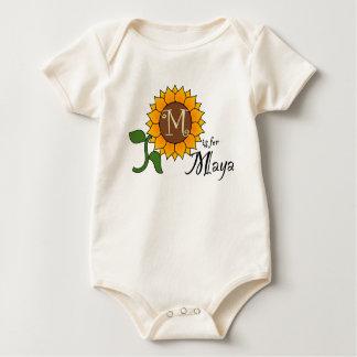 M is for Maya Cute Sunflower T-shirt