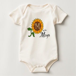 M is for Maya Cute Sunflower T-shirt
