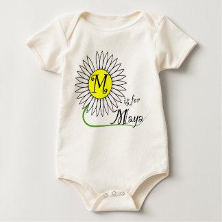 M is for Maya Daisy Baby Bodysuits